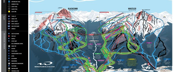 Whistler ski trail map