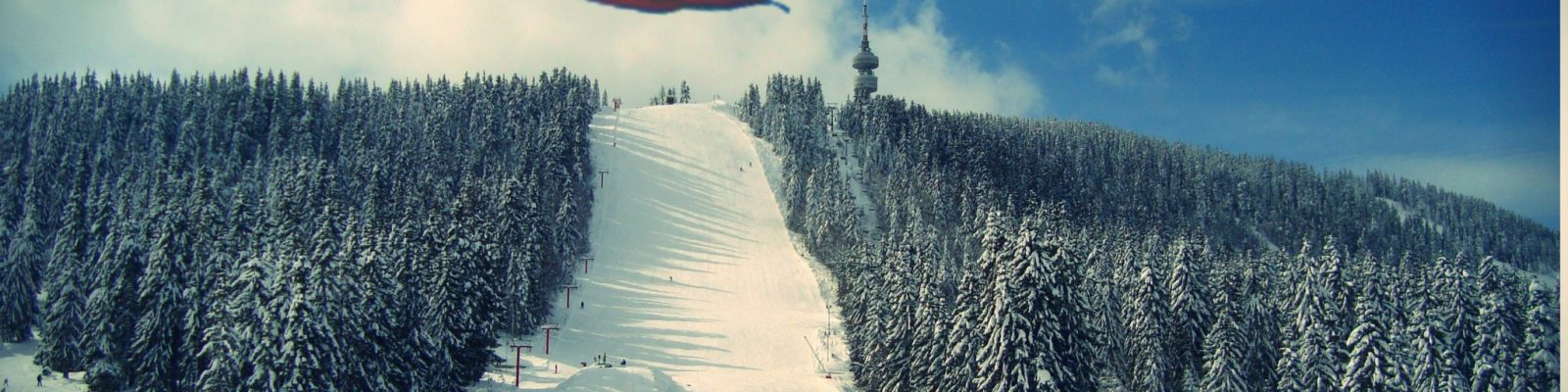 Bulgarian flag ski slope