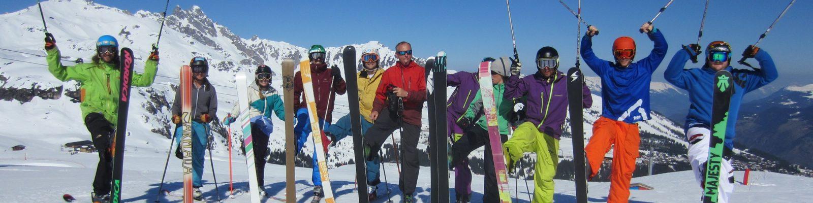Group ski holiday